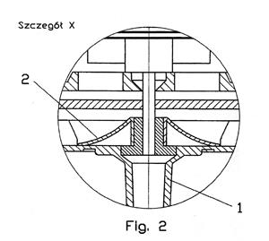 przekrój elementu konstrukcyjnego nawilżacza Triada