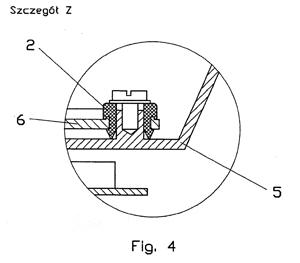 w przekroju, szczegół elementu konstrukcyjnego nawilżacza powietrza TRIADA