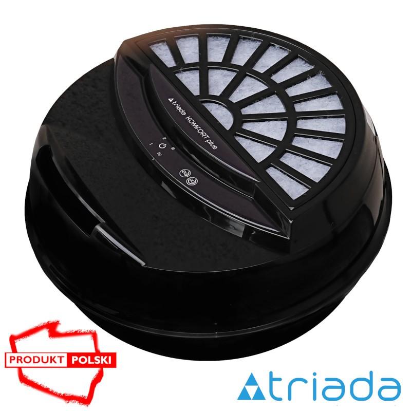 Sterowany cyfrowo - Triada KOMFORT plus - nawilżacz oczyszczacz czarny