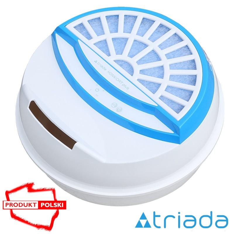 Sterowany cyfrowo - Triada KOMFORT plus - nawilżacz oczyszczacz niebieski
